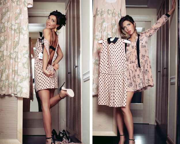 Екатерина Климова фото в расстёгнутом платье в примерочной