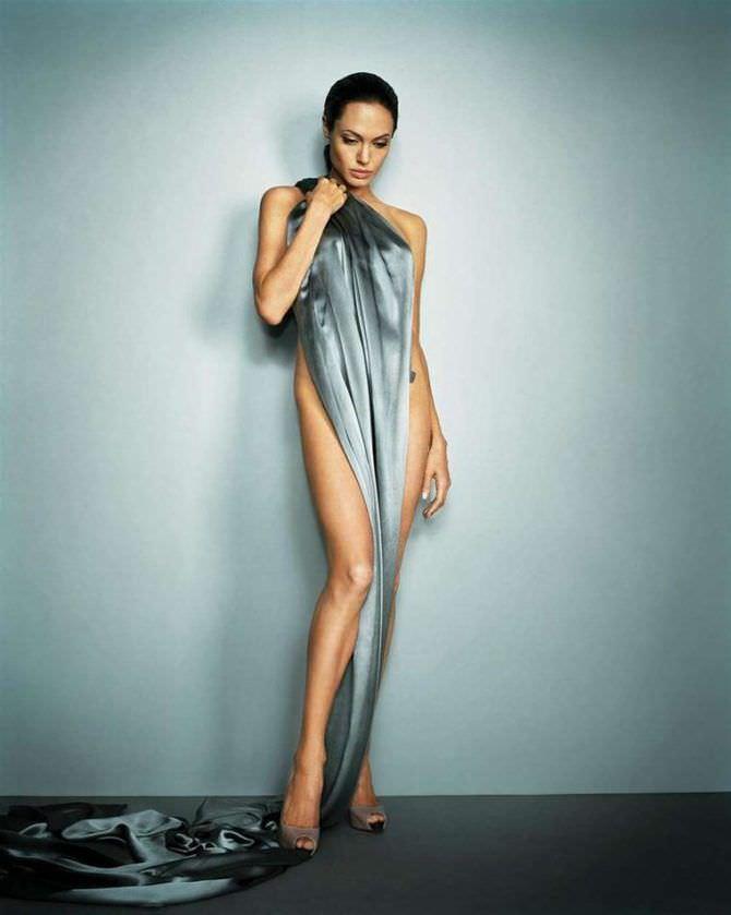 Анджелина Джоли фото с тканью