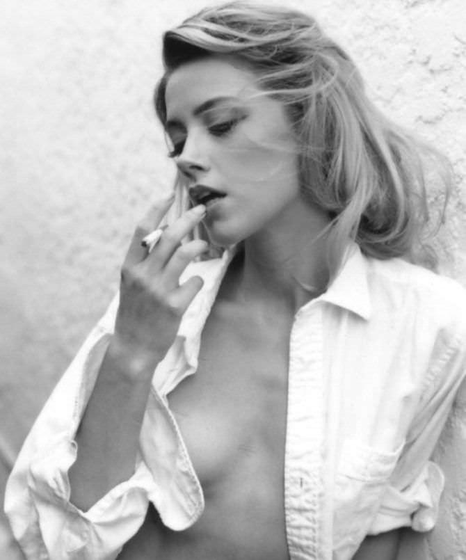 Эмбер Хёрд фотография в расстёгнутой рубашке