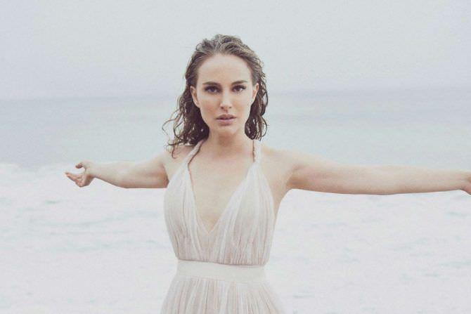 Натали Портман фото в белом платье