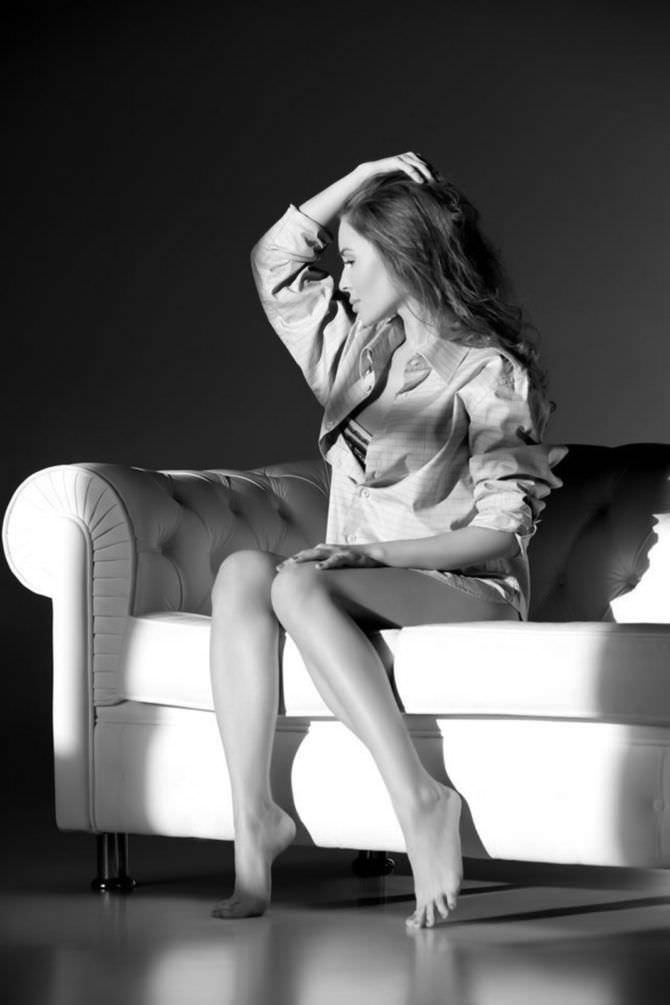 Юлия Михалкова фото в рубашке