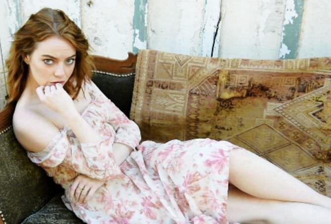 Эмма Стоун в летнем платье