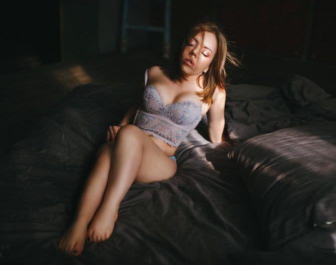 Олимпия Ивлева фото в сером белье