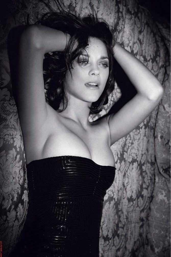 Марион Котийяр фотография в платье с декольте