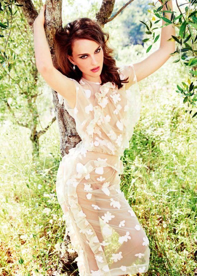 Натали Портман фото в прозрачном белом наряде