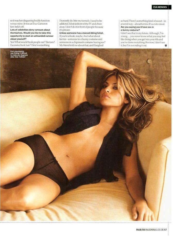 Ева Мендес фото для журнала