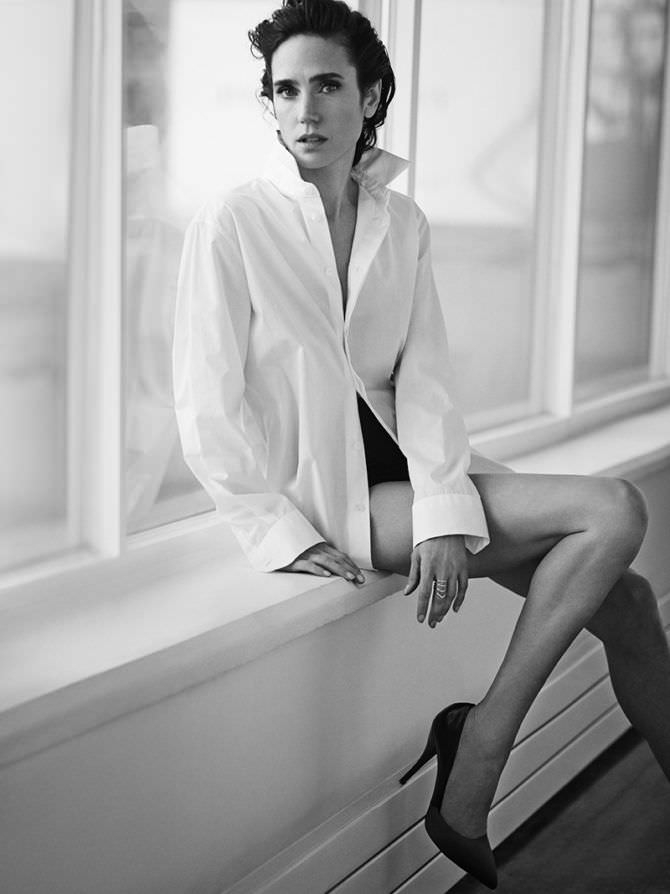 Дженнифер Коннелли фото в рубашке
