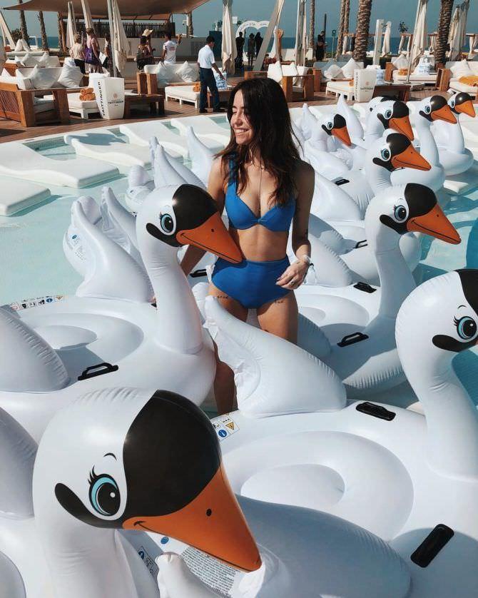 Надежда Дорофеева фото с лебедями