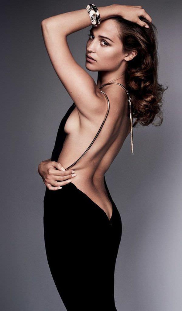Алисия Викандер фото в вечернем платье