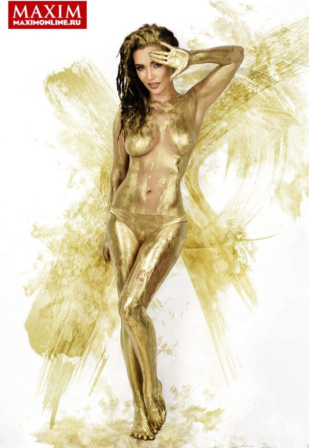 Ольга Серябкина фото в золоте