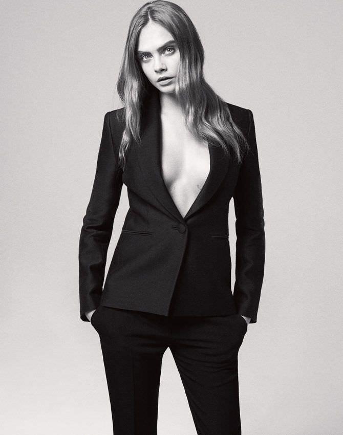 Кара Делевинь фото в мужском костюме