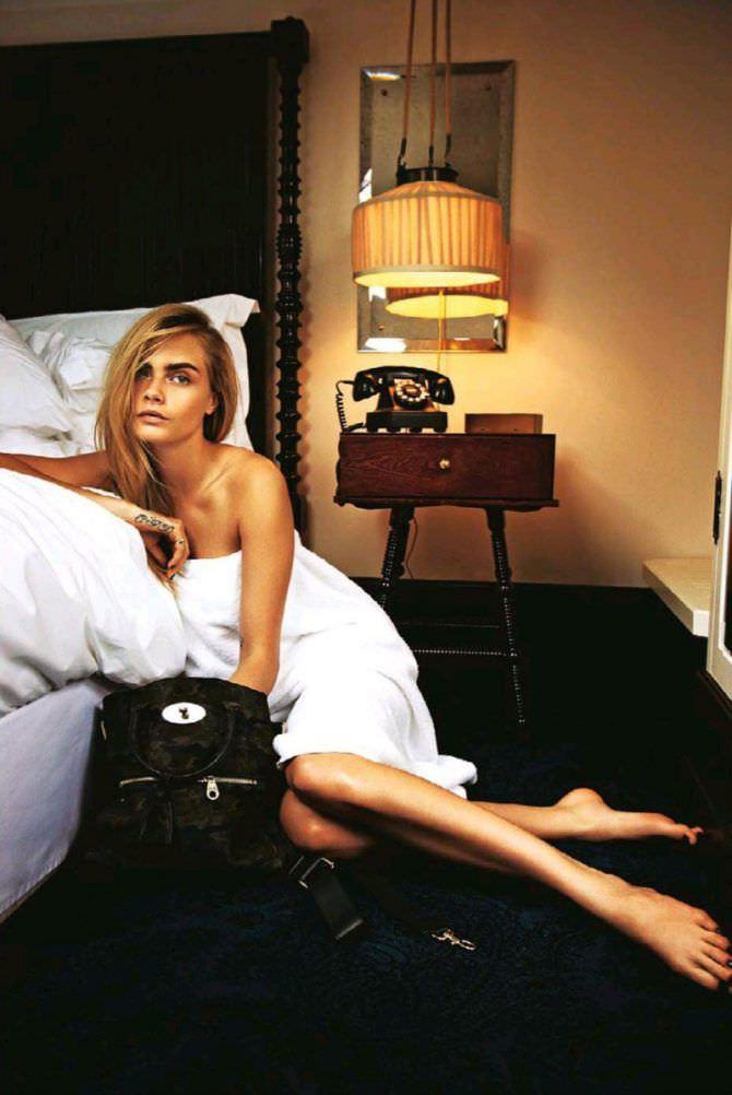 Кара Делевинь фото в спальне