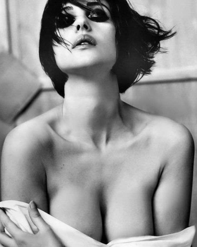 Моника Беллуччи фото с короткими волосами