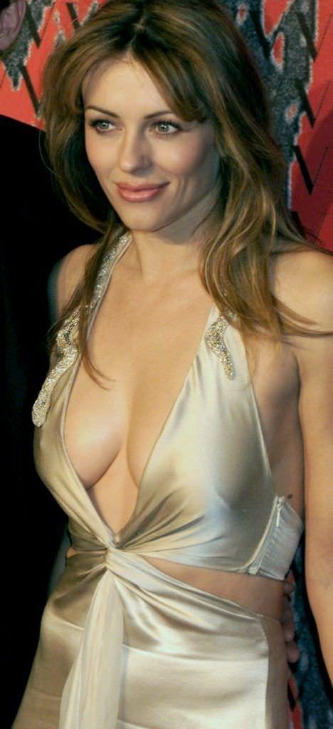 Элизабет Хёрли фото в откровенном платье