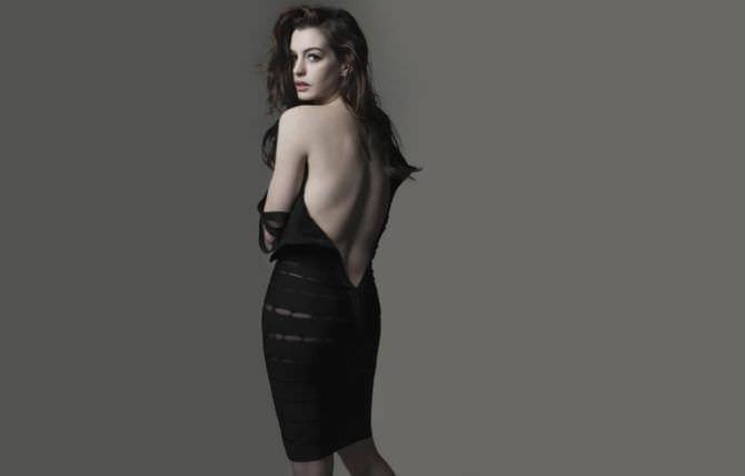 Энн Хэтэуэй фото в платье для журнала