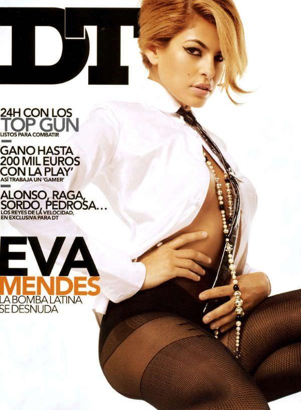 Ева Мендес фото с обложки
