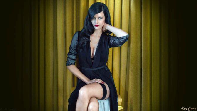 Ева Грин фото в чёрном платье