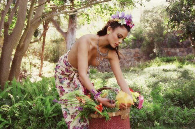 Натали Келли фото с корзиной