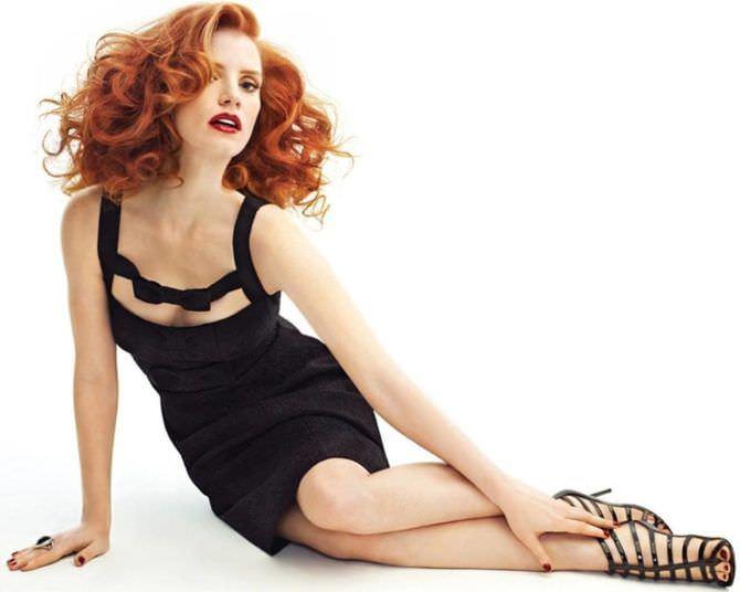 Джессика Честейн фото в чёрном платье