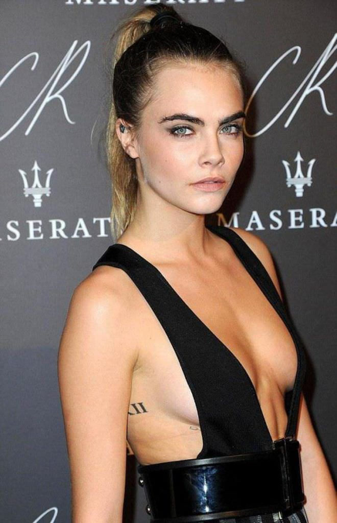 Кара Делевинь фото в вечернем платье