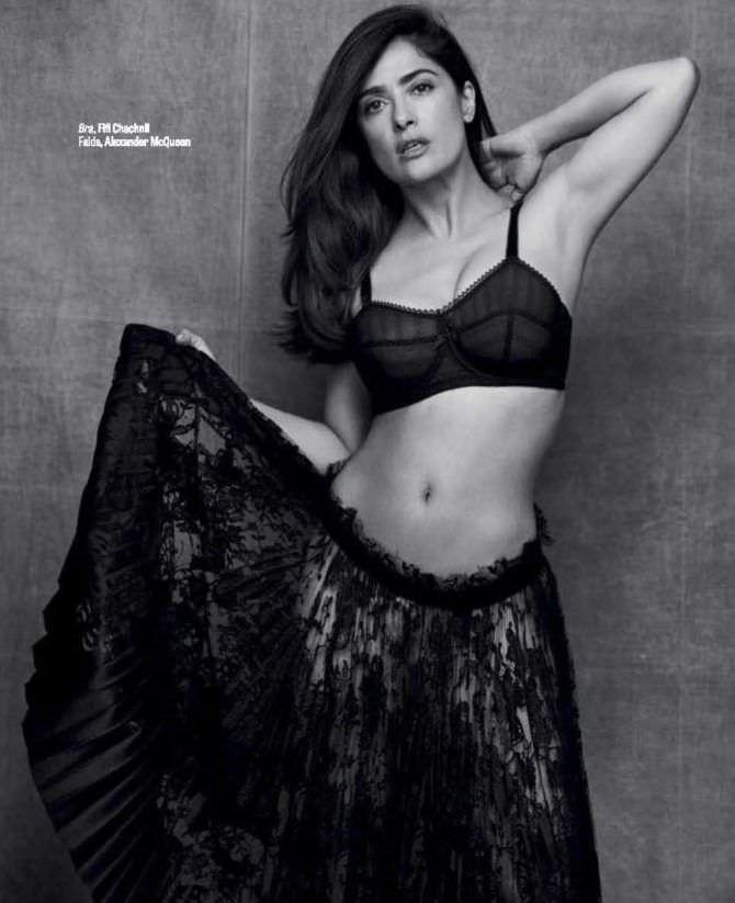 Сальма Хайек фотосессия для журнала