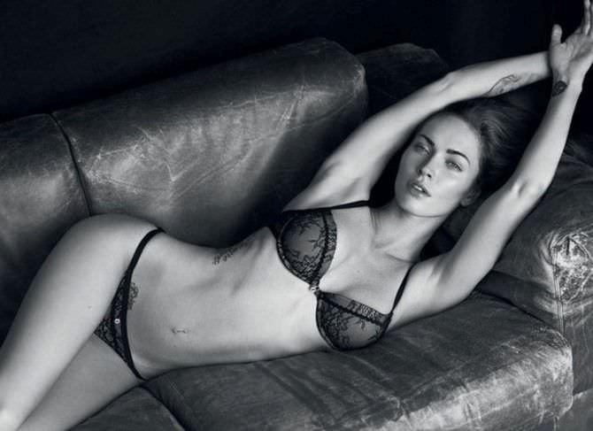 Меган Фокс фото в красивом белье