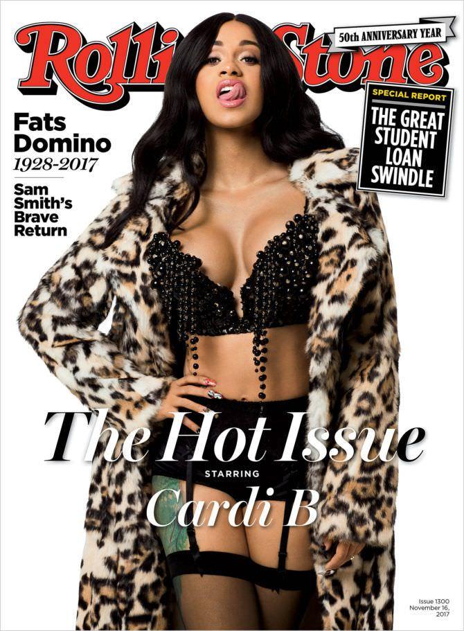 Карди Би фото с обложки журнала