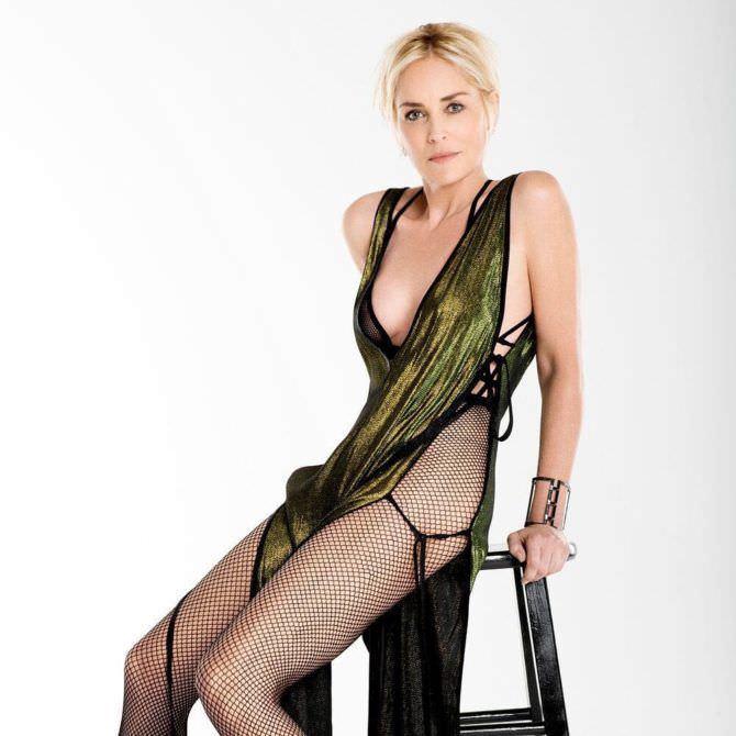 Шэрон Стоун фото в открытом платье