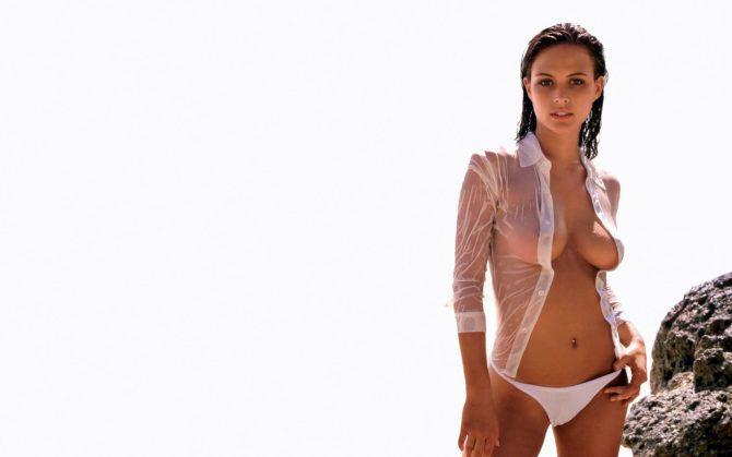 Джози Маран фото в мокрой рубашке