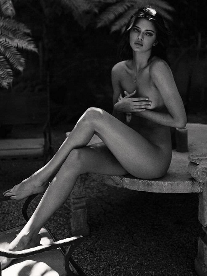 Кендалл Дженнер фотосессия без одежды