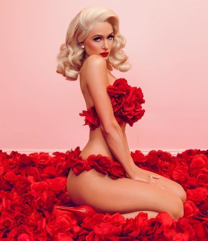 Пэрис Хилтон фото в розах