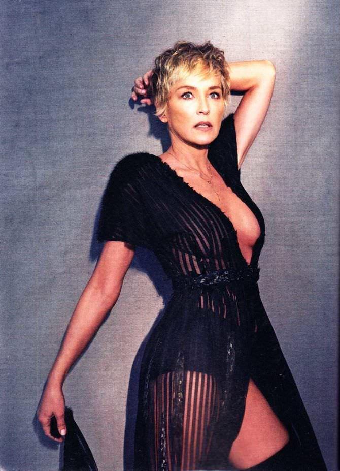 Шэрон Стоун фото в чёрном платье