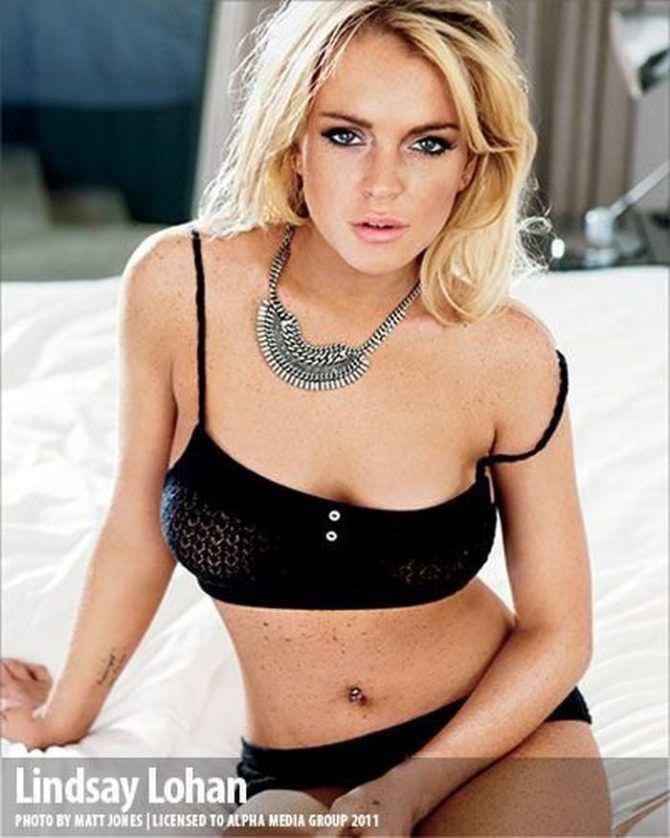 Линдси Лохан фото из журнала