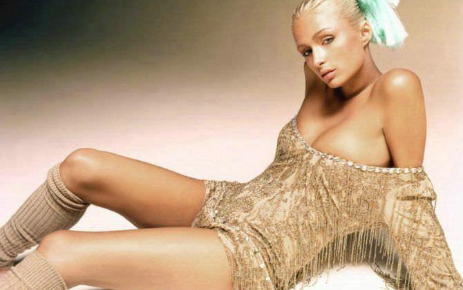 Пэрис Хилтон фото в золотом платье
