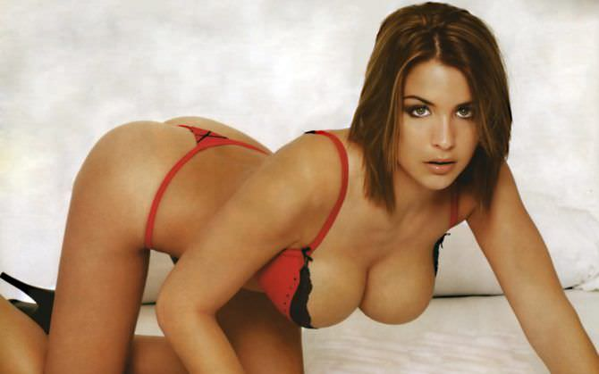 Джемма Аткинсон фото в красном белье