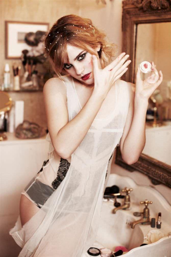 Эмма Уотсон фотосессия с крсметикой