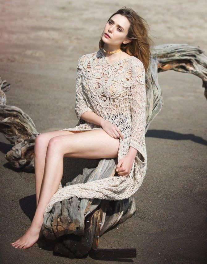 Элизабет Олсен фотосессия на пляже
