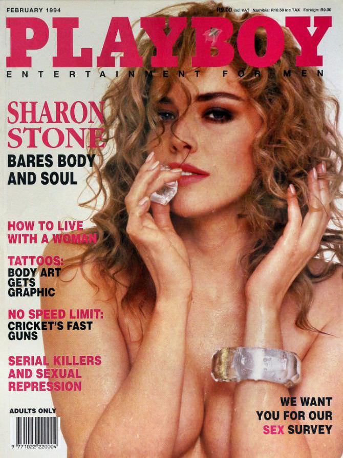 Шэрон Стоун фото обложки журнала