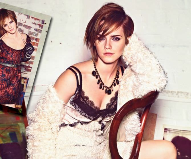 Эмма Уотсон фото на стуле
