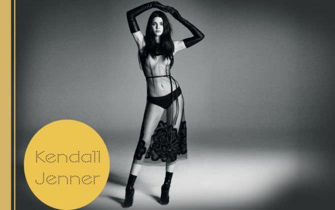 Кендалл Дженнер фото в прозрачном платье