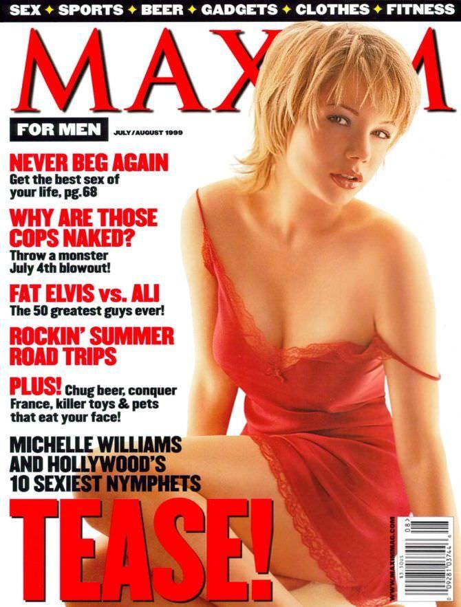 Мишель Уильямс фото в Максим 1999