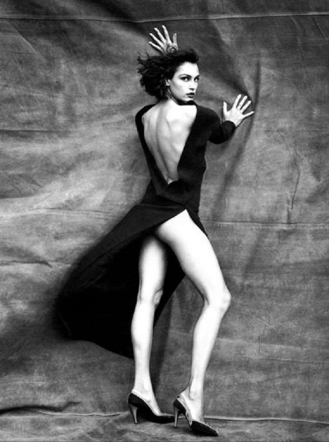 Фамке Янссен фото в длинном платье