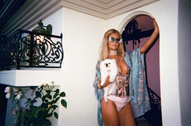 Пэрис Хилтон фото с собакой