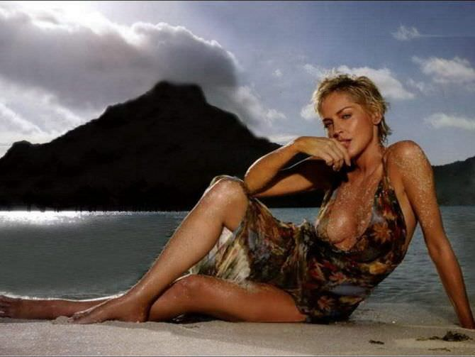Шэрон Стоун фото на пляже