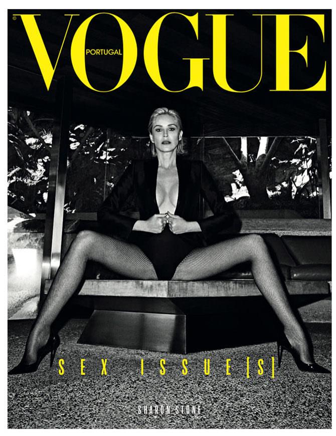 Шэрон Стоун в 61 год на обложке журнала Vogue