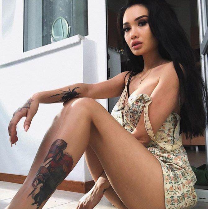 Айжан Байзакова фотография в лёгком платье