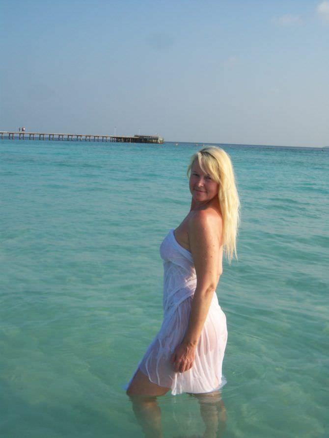 Елена Кондулайнен фотография на пляже