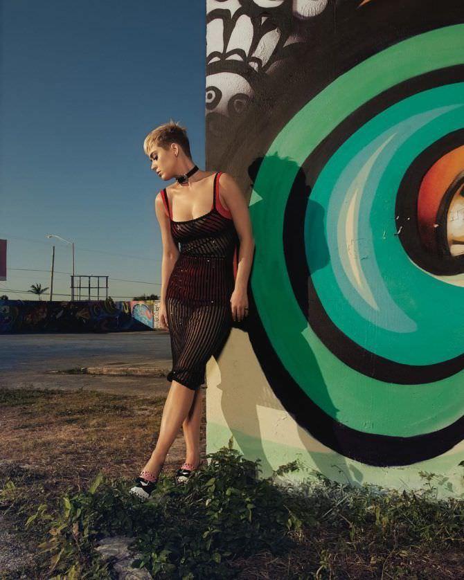 Кэти Перри фото в прозрачном платье