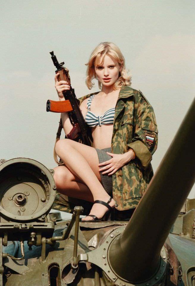 Дана Борисова фотография с танком
