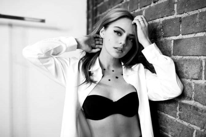 Катя Кищук фото в белой рубашке